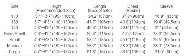 Кигуруми размер таблица размеров