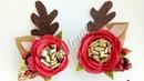 Broches de renito con flores de fomi para niñas pequeñas
