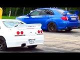 Subaru Impreza WRX STI 2013 vs Nissan GTR R33 Drag Race 1/4 Mile Rennen Acceleration