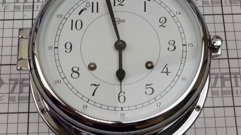 Часы-иллюминатор механические Barigo Skipper 591CR 180 x 70 мм хромированные