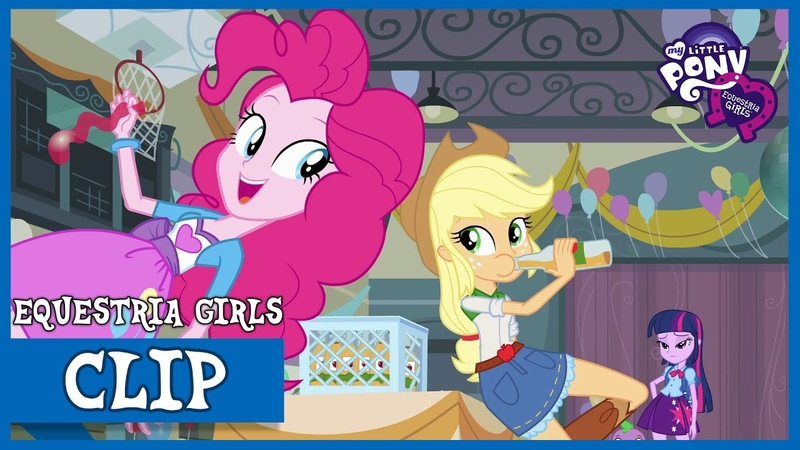 Pinkie Pie and Applejack at CHS | MLP: Equestria Girls [HD]