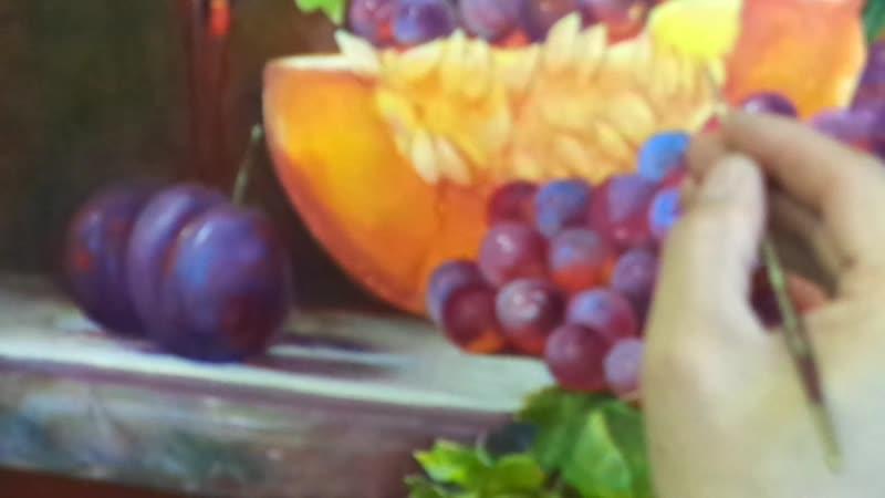 MAH01419рисууем капельку на фруктах..Преподаватель Алексеев А.С.
