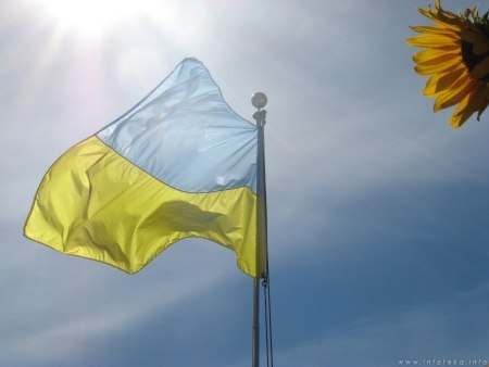 Прапор України і соняшник