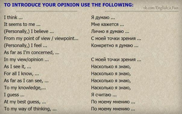 Фразы используемые в любом общении