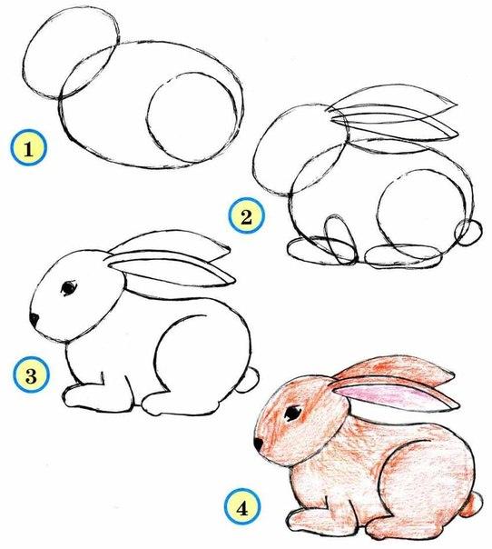 картинки карандашом для начинающих прикольные: