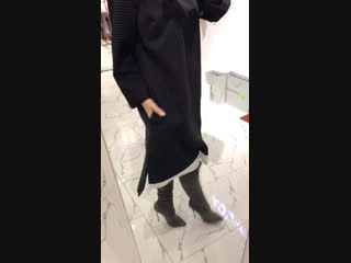 Платье черное в полоску