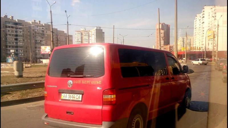 Автобус №18 Bus №18 Ст м Харківська Харківське шосе