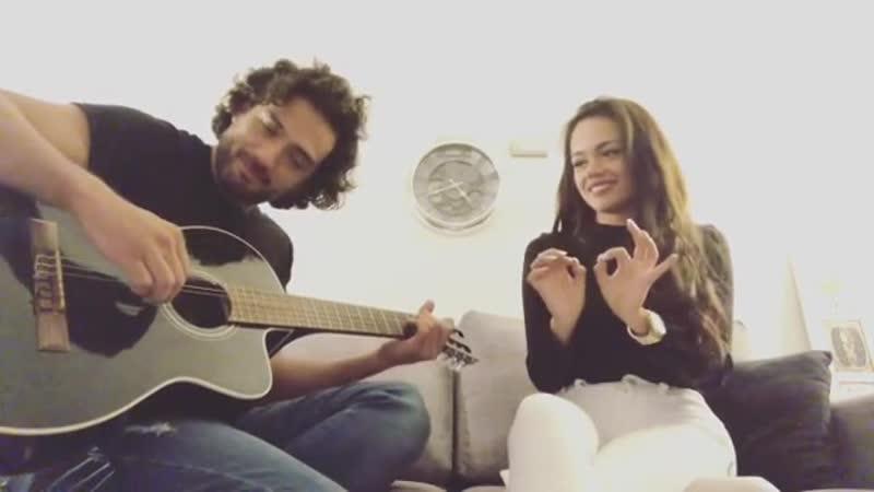Кавер Пабло (Блас в МД) и Mayra Goñi на песню seradedios rebeldesporsiempre rebeldeway