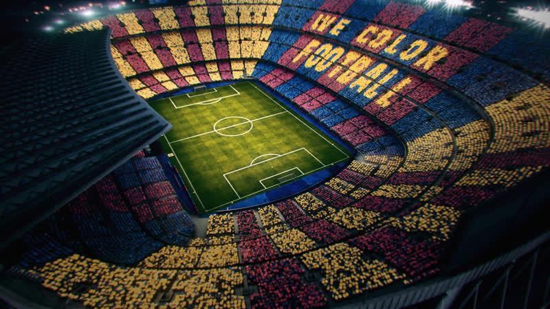 Мы окрасим футбол: Реверсивная мозаика на Эль Класико