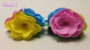 Цветы из фоамирана/Резинки для волос/МК/flowers from fameirana