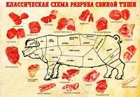 Классическая схема разруба свинины. / Служба Снабжения.