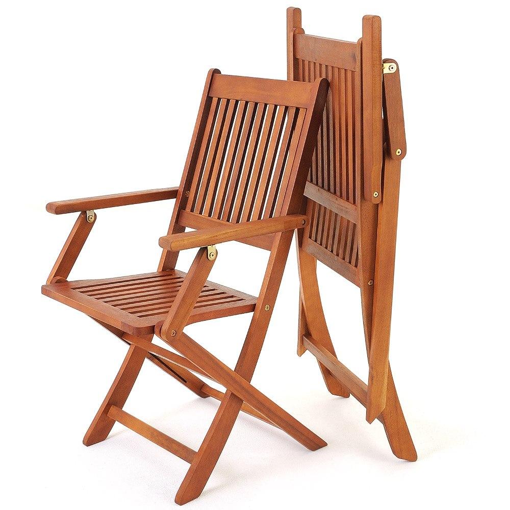 Mesa cuatro sillas de madera acacia para jardin balcon for Sillas jardin