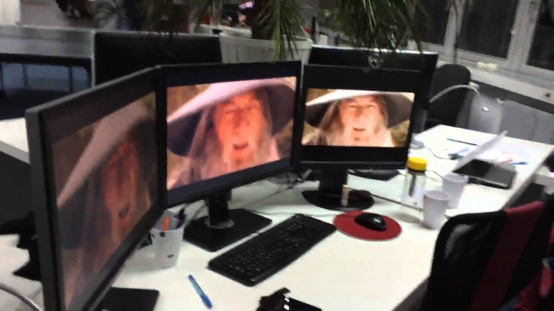 The Lord of the Rings Gandalf nod office prank