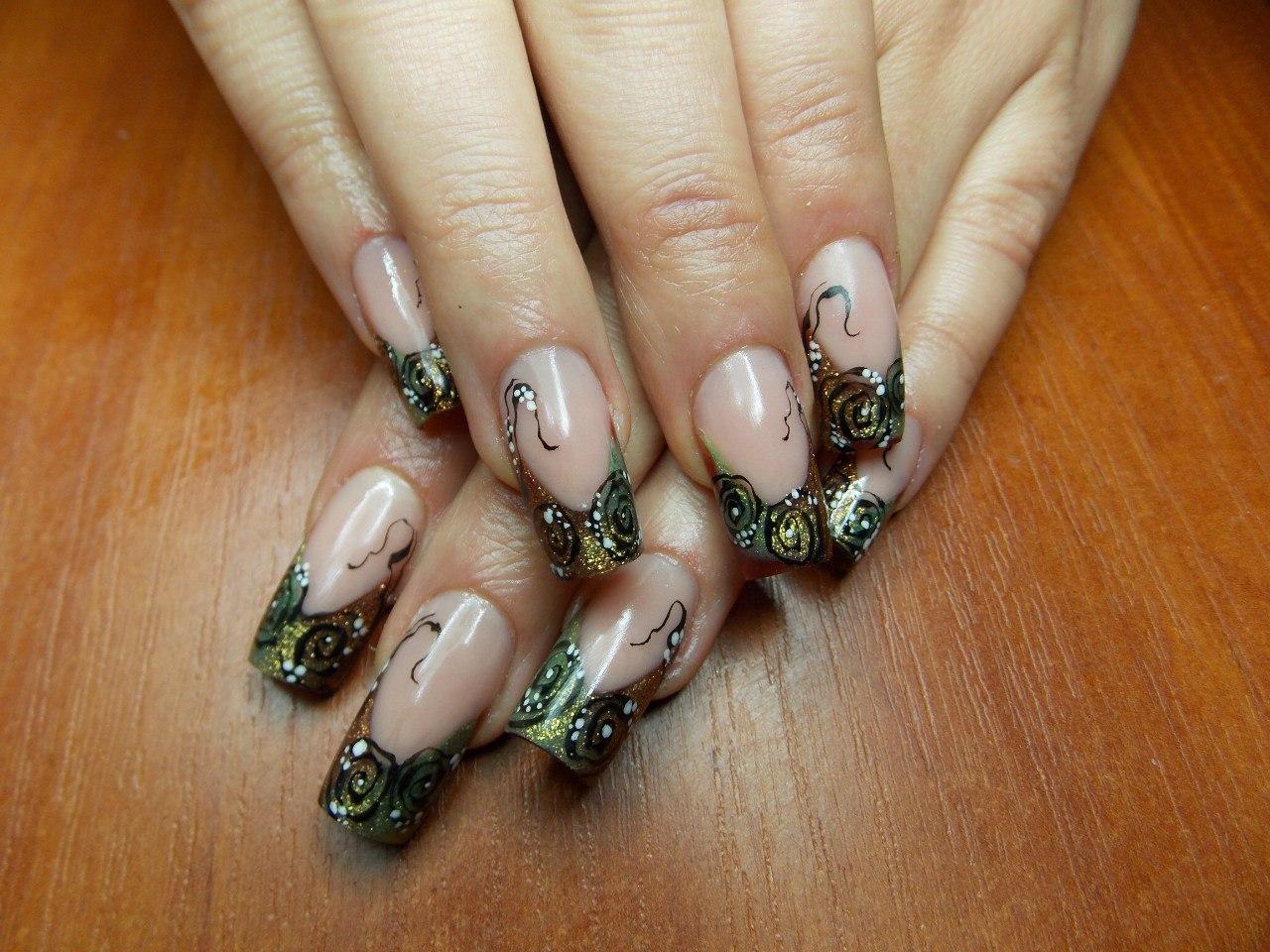 Нарощенные ногти самый красивый маникюр фото