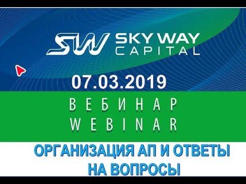 07. 03. 2019г Организационно экономический и правовой вебинар SkyWay.