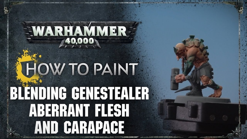 How to Paint Blending Genestealer Aberrant Flesh and Carapace