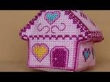 Мармеладный домик. М-063. TM ZENGANA Набор для вышивки елочной игрушки