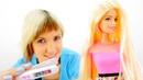 Распаковка куклы Барби - Красим волосы кукле Барби