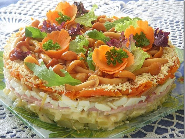 Праздничные салаты и фото