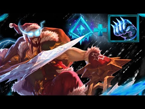 Glacial Augment on Draven Iceborn Gauntlet MY MOM BROKE MY PC AFTER THIS ONE