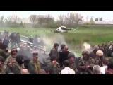 Краматорск Чёрные человечки высадились с вертолёта!