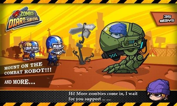 Скачать  Zombie Diary: Survival для android