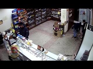 Грабители разбили ящик пива