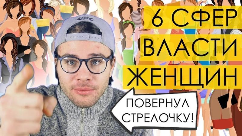 ПОЧЕМУ В РОССИИ МАТРИАРХАТ 6 сфер власти женщин Поворот стрелочки