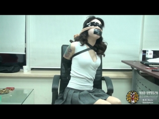Sexy chinese girl gagged with pantyhoses