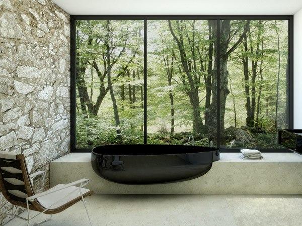ванная, минимализм