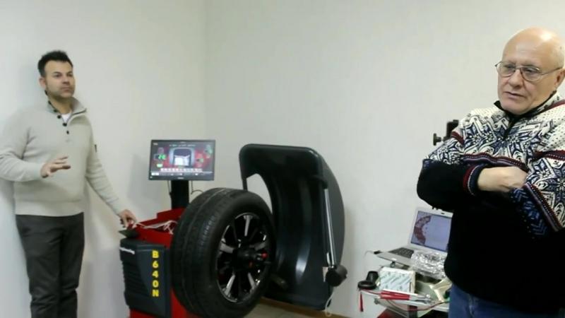 Установка дополнительного фотоэлемента к балансировочному станку MB WB640N, Италия