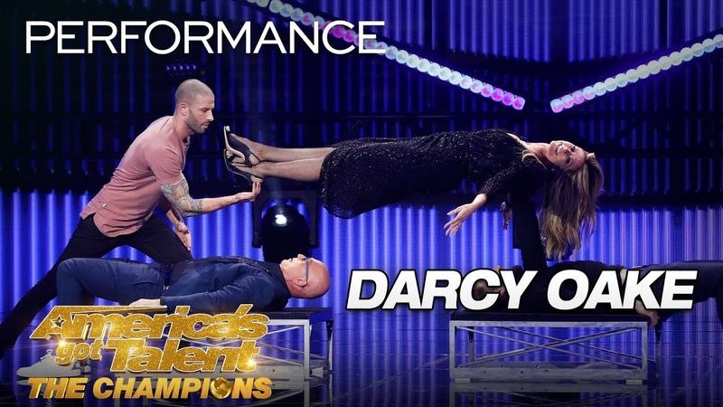 Darcy Oake: Illusionist Defies Gravity Making Heidi Klum Float - America's Got Talent: The Champions