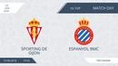 AFL18. Spain. Primera. Day 16. Sporting de gijon - Espanyola RMC.