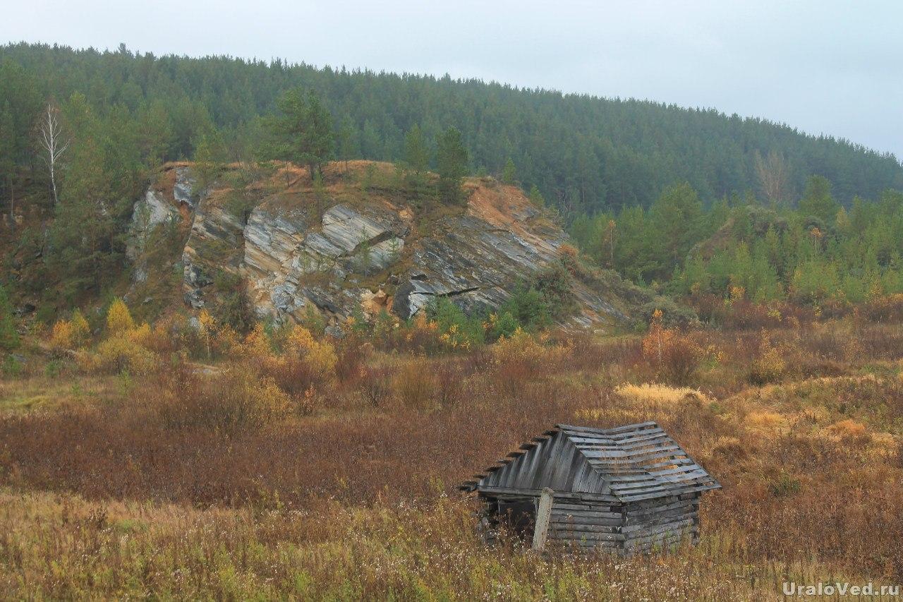 Базальтовые скалы в Колюткино