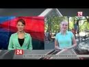 В Симферополе открывается спортивный зал под открытым небом. Прямое включение корреспондента телеканала «Крым 24» А. Ничуговской