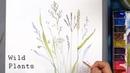 [LVL3] Wild Plants Watercolor Painting - Botanical Illustration