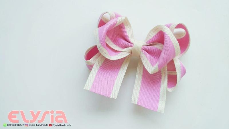 New laço Boutique Com Duas Pontas 🎀 Ribbon Bow 🎀 DIY by Elysia Handmade