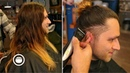 Long Hair with Taper Fade Barbershop Haircut