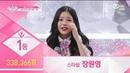 Produce48 EP12 2 First place Jang Won Young (338,366 votes) won Miyawaki Sakura (316,105 votes)