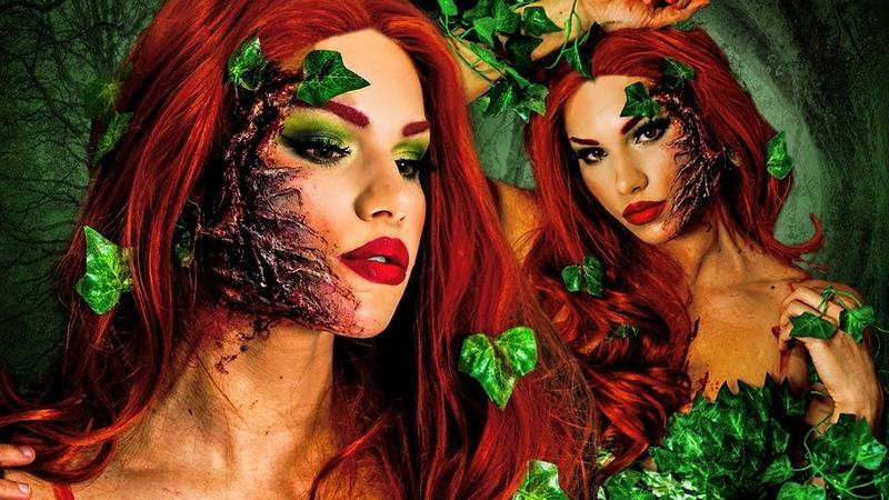 POISON IVY HALLOWEEN Makeup Tutorial! DIY COSTUME Hair!