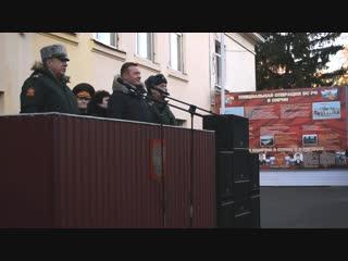 ЮнАрмейцы гимназии №25 провожают призывников на службу