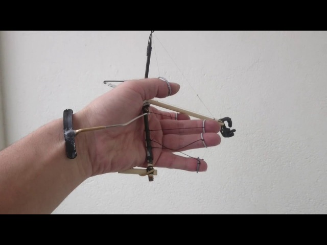 Mini animatronic hand with wirst articulation and cable remote