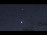 Венера и Луна в ночном небе