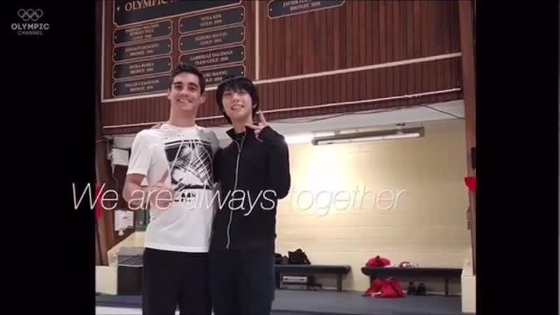 Yuzuru Hanyu's goodbye message to Javier Fernandez (22.01.19) OC