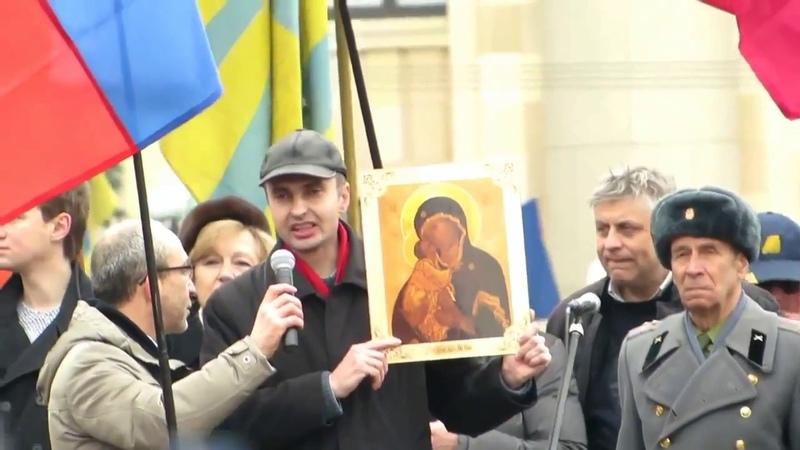 1 марта 2014 г старт Русской весны Сергей Моисеев выступление перед штурмом ХОГА