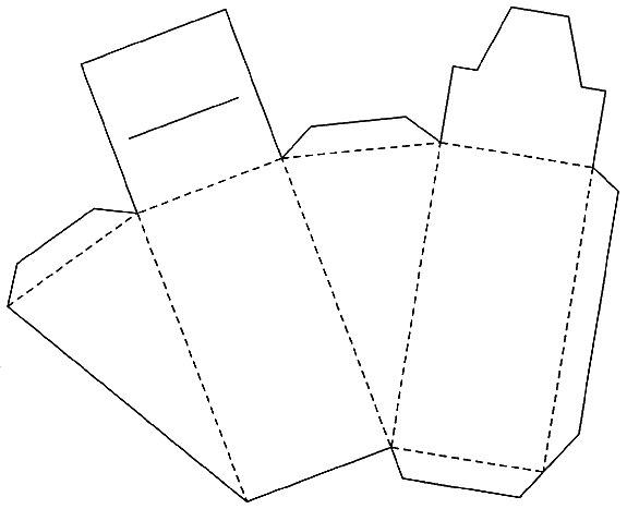Шаблон для упаковочной коробки