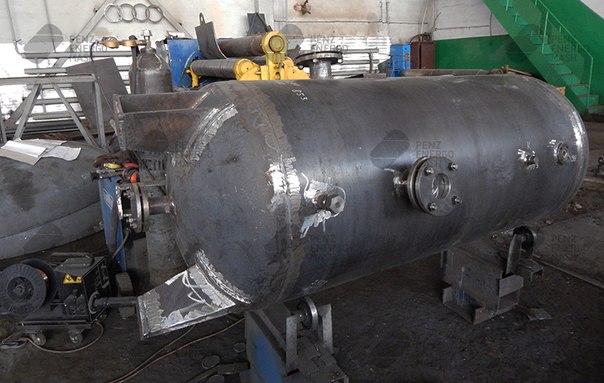 Производство воздухосборника В0,9-0,8-09Г2С-УХЛ1