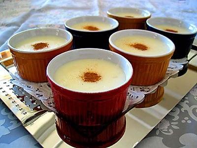 Турецкий десерт мухаллеби .Фруктово-молочный десерт