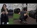 Clarence Squats 270kg 595lbs for 5 reps Eoin does Crossfit and Handstand Walking Race