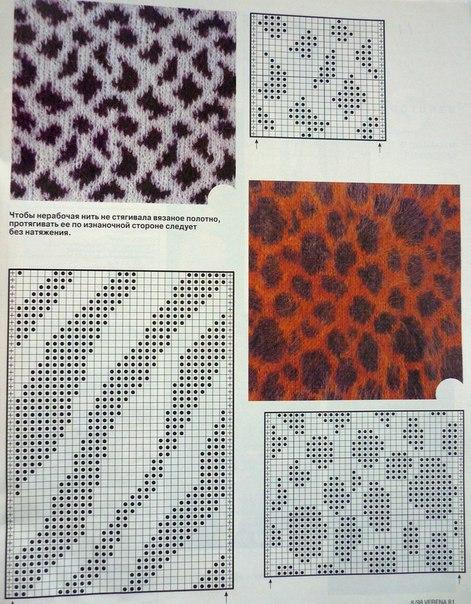 Free Zebra Print Hat Crochet Pattern : Materiales graficos Gaby: Patrones jacquard animal print